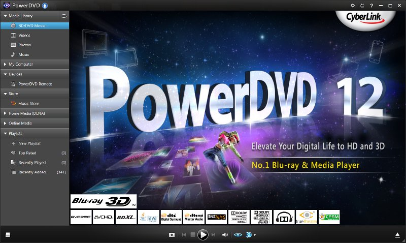 PowerDVD, Play DVD, watch DVD, DVD audio, dvd movie, Dolby surround, CLEV-2, CLP