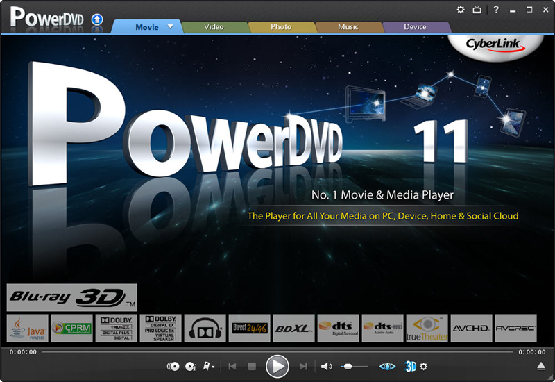 Click to view CyberLink PowerDVD 11 screenshot