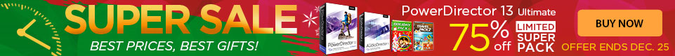 Upgrade to PowerDirector 13 Ultra - Now 75% OFF!