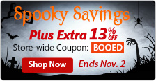 Extra 13% off Store-wide Coupon: BOOED
