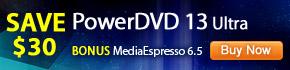Bonus MediaEspresso and PowerDVD Mobile