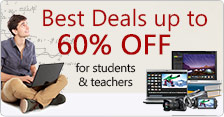Best Deals up to 60% Off for students & teachers