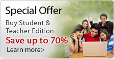 Buy Student & Teacher Edition: Save up to 70%!