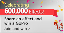 Share an effect for a chance to win awesome prizes!