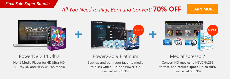 PowerDVD 14 Ultra: World No.1 Movie & Media Player with Cloud
