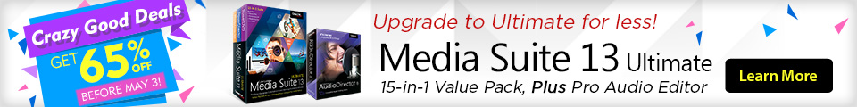 Upgrade to Media Suite 13 Ultimate