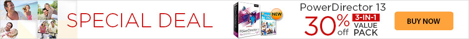 30% OFF PowerDirector 13 Ultimate Suite