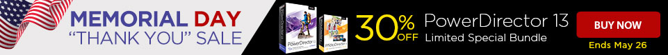 30% OFF PowerDirector 13 Ultimate