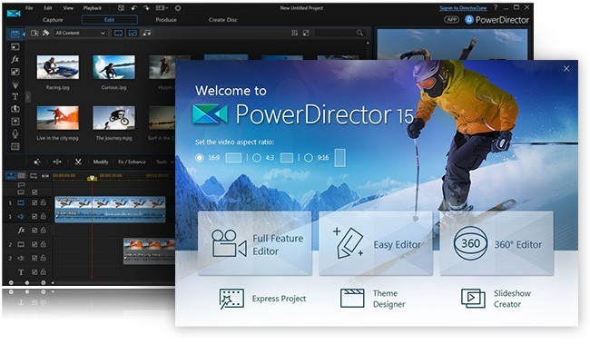 cyberlink powerdirector 15 free download full version for pc