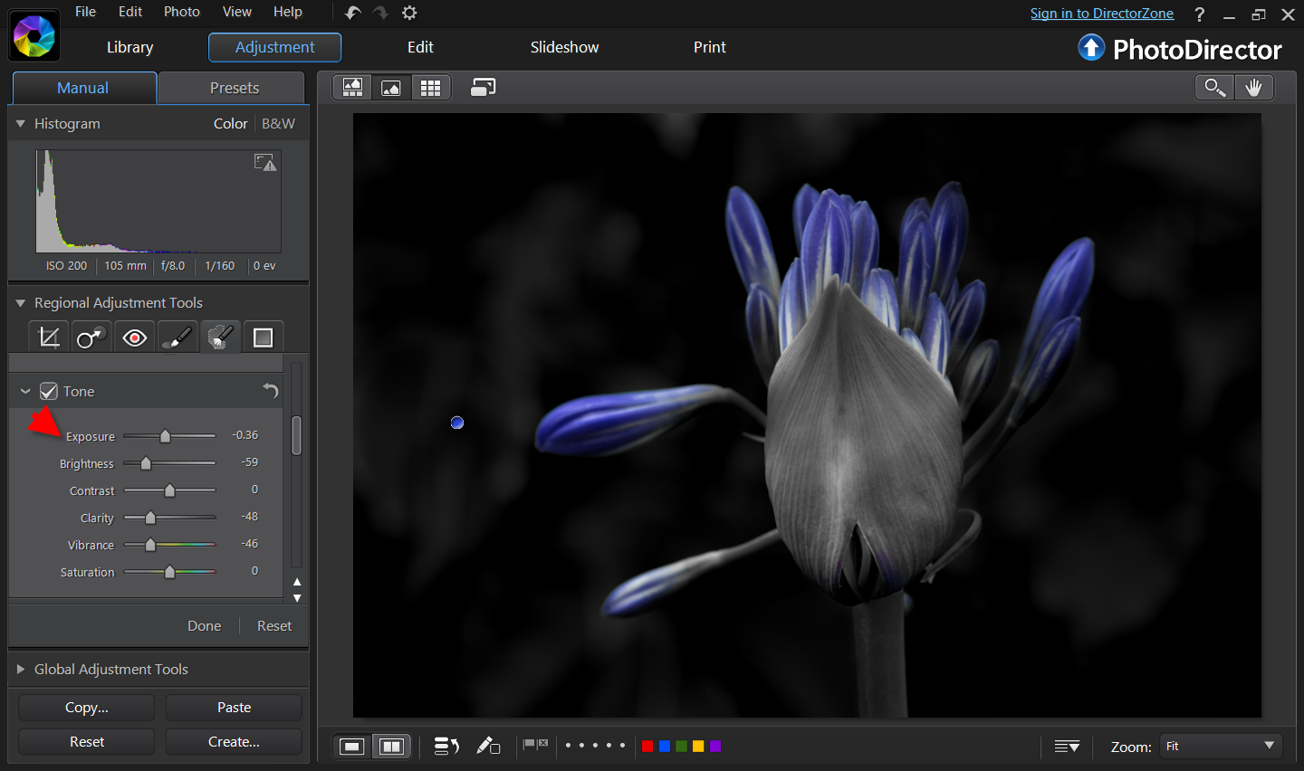 Free online photo editor selective coloring - There Is A Small Part At The Bottom Of The Bulb With Bluish Color So I Create Another Mask To Remove The Color By Reducing Vibrance And Saturation Of That
