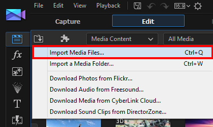Basic Editing Techniques 1: Importing Media | The CyberLink
