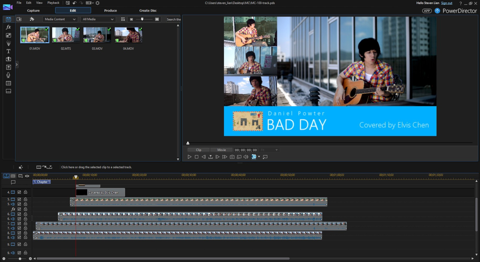 Editing Music Video Using Multicam Clips | The CyberLink Learning Center