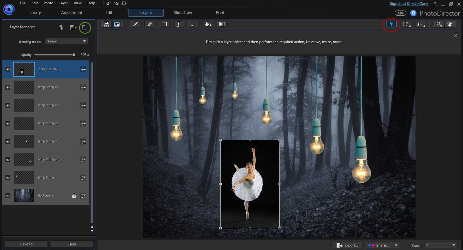 Background image editor - The Ballerina Photo Was Taken In The Studio With A Black Background Simply Change The Blending Mode To Lighten And The Black Background Will Be Removed