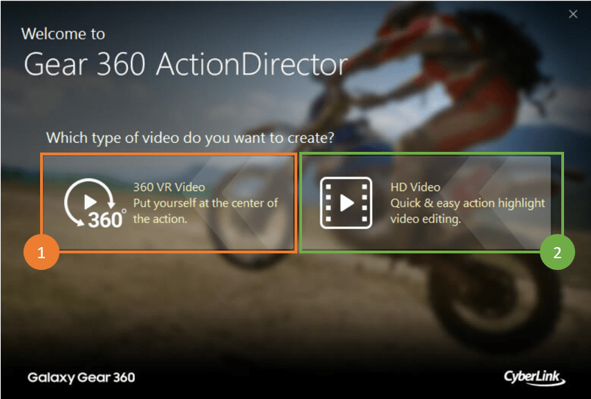 Introducing Gear 360 ActionDirector | The CyberLink Learning Center