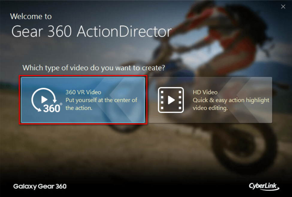 Importing videos using Gear 360 ActionDirector | The