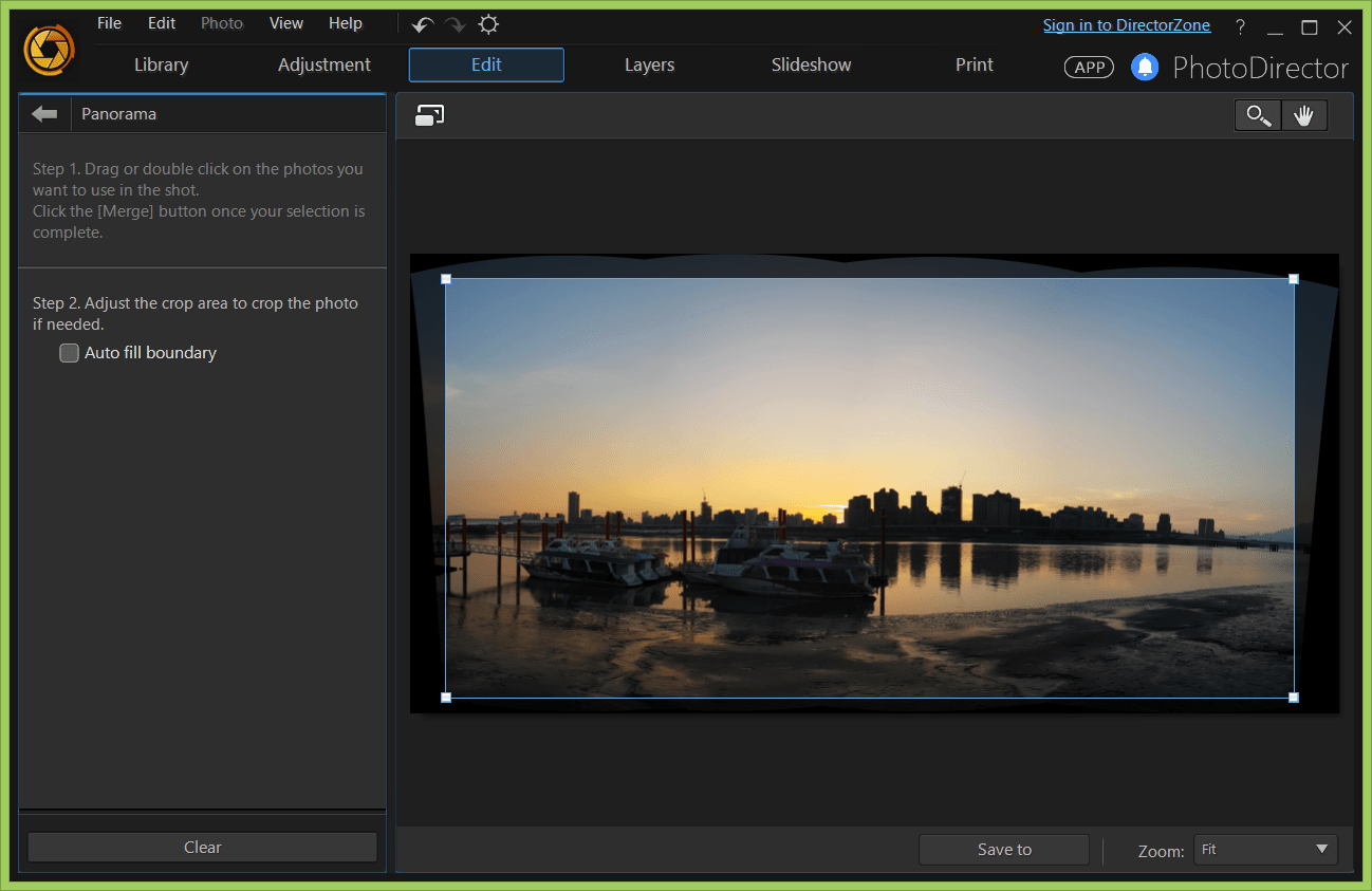 Using Video-to-Photo: create your panorama photo   The