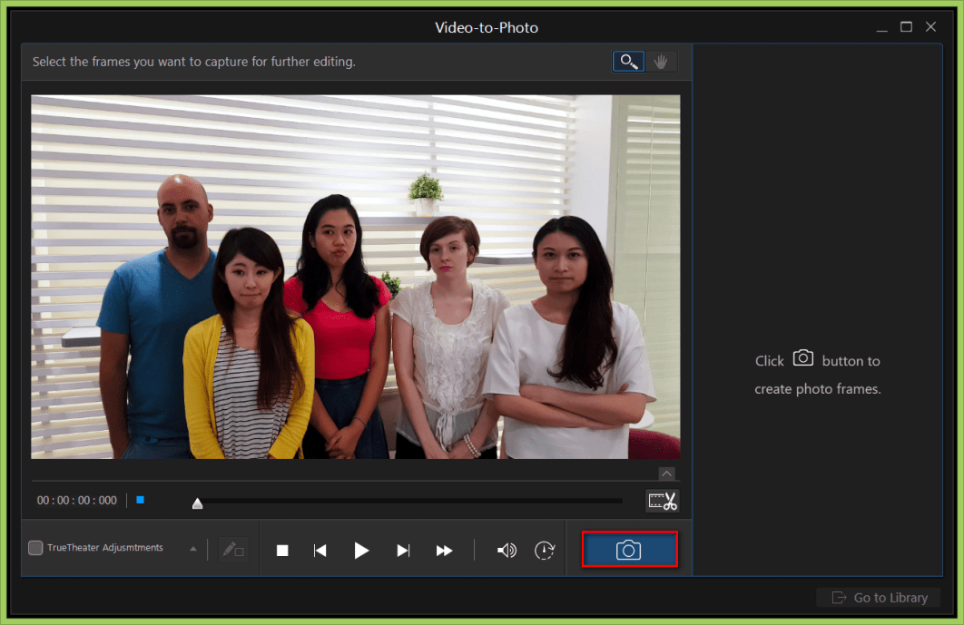 Using Video-to-Photo Tool to create a perfect group shot