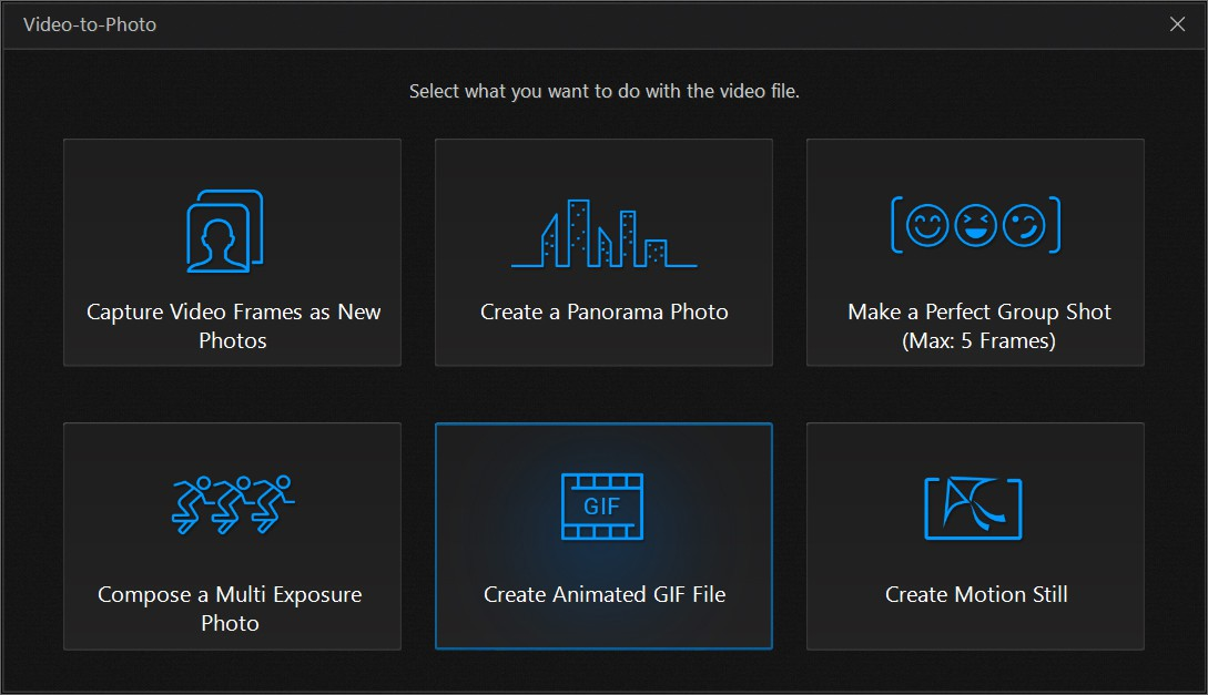 How to create an animated gif with photodirector cyberlink step 2 select the frames to capture negle Image collections