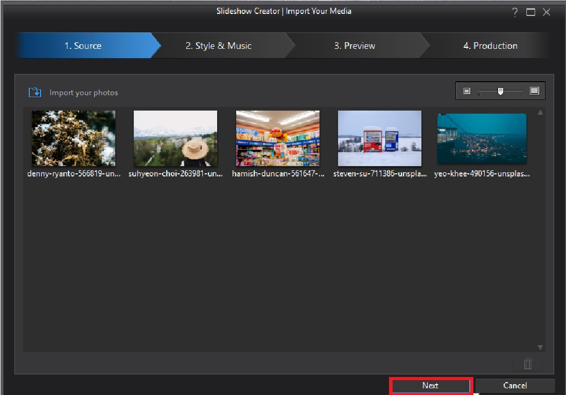 Create a Slideshow Video with Motion Templates | PowerDirector Video ...