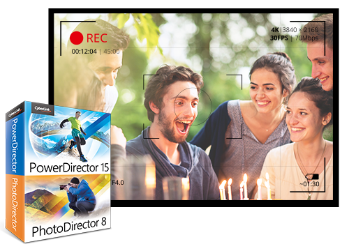 PowerDirector 15 X PhotoDirector 8 - Collection Créative Indispensable pour Vidéos & Photos