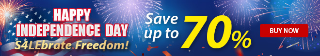 Save up to 70% this Independence Day Sale