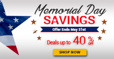 Memorial Day Savings: Save up to 40%!