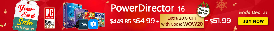 Buy the Latest PowerDirector 16!